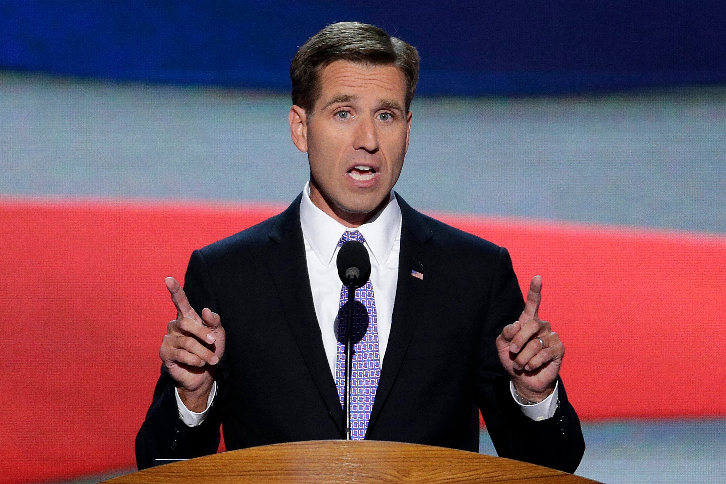 Beau Biden, Attorney General of Delaware and son of Vice President Joe Biden nominated his father for the Office of Vice Presdient of the United States during the Democratic National Convention on Sept. 6, 2012. (Source: AP Photo/J. Scott Applewhite)