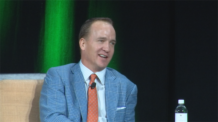 Hall of Fame quarterback in-waitingPeyton Manning was the special guest speaker in front of a crowd of 2,500 at the Phoenician.(Source: 3TV/CBS 5)