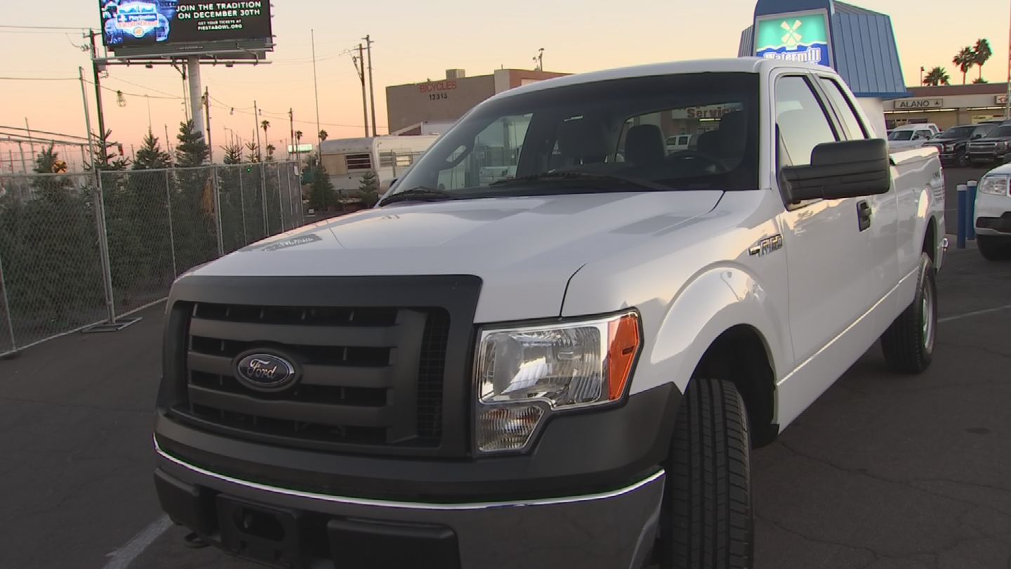 """""""We made sure it had some new tires installed, a new battery and we had some new brakes and belts installed and we made sure we got it detailed,"""" said Luis Frisby, vice president of Southwest Gas. (Source: 3TV/CBS 5)"""