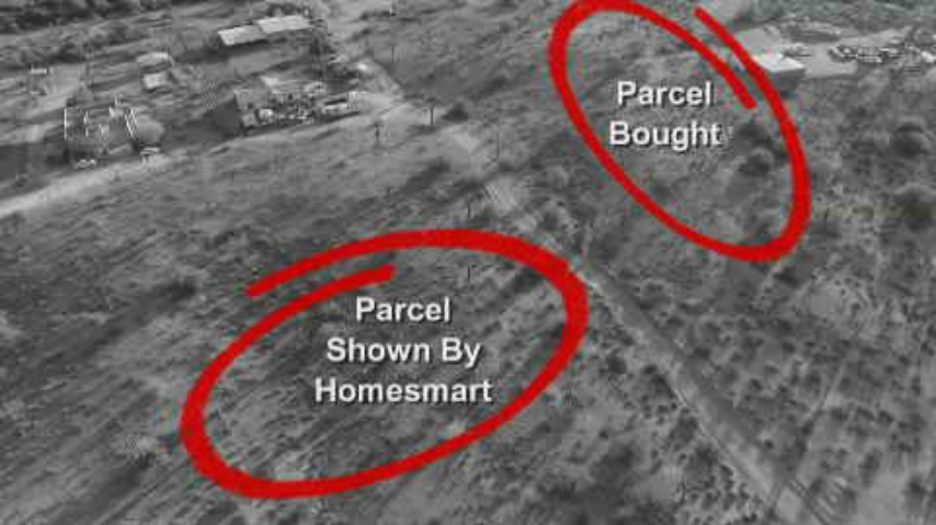 According to Waltz, the parcel of land they actually bought wasn't the one they were shown by that HomeSmart agent. (Source: 3TV)