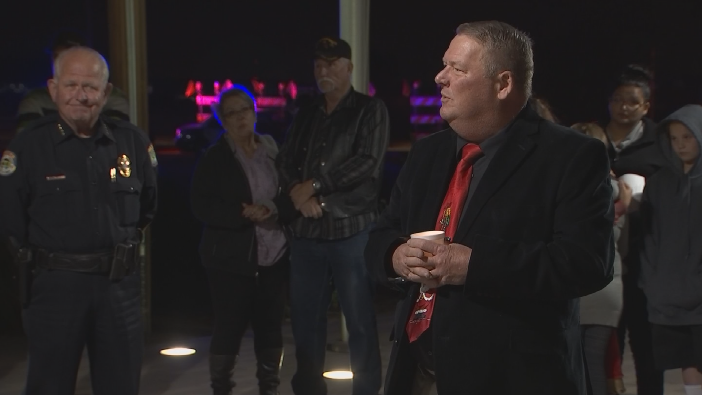 Several people spoke at the vigil. (Source: 3TV/CBS 5)