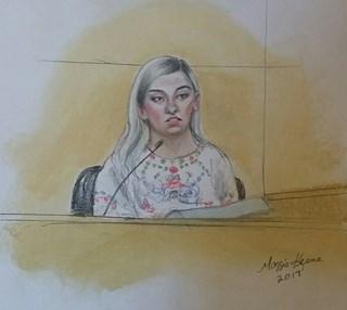 Logan Brown testifying. (Source: Maggie Keane)