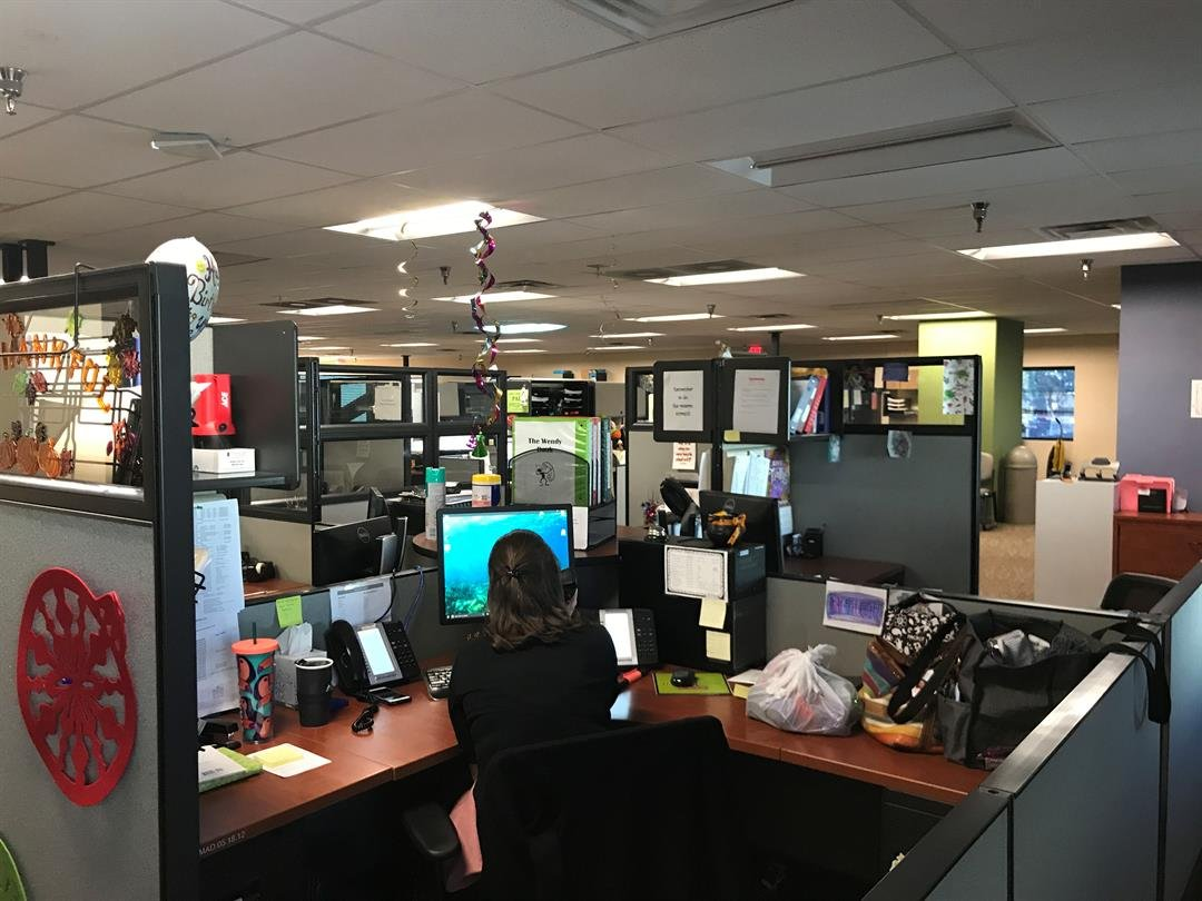 The Empact Suicide Prevention Center works with schools and hosts a hotline to help callers. (Photo by Shawna Truong/ Cronkite News)