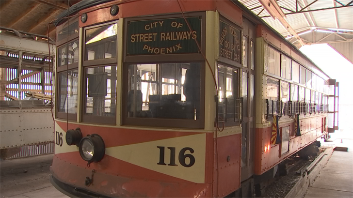The museum featured Car 116, one of the last remaining streetcars that operated until 1948. (Source: 3TV/CBS 5)