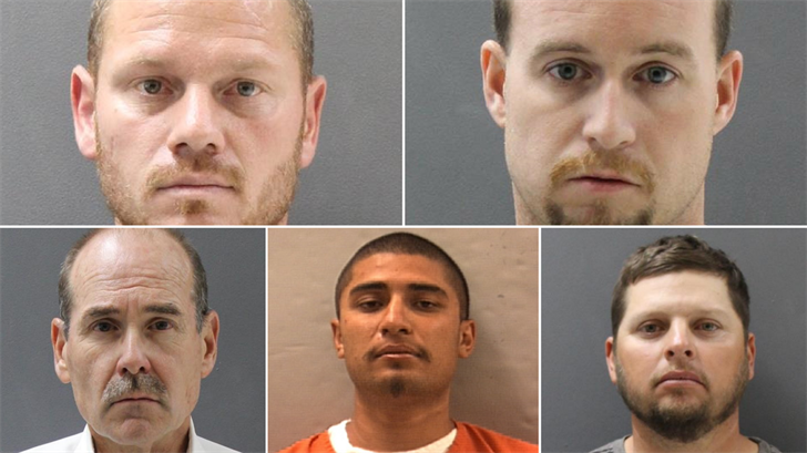Five men were arrested in an undercover prostitution sting operation, according to police. (Source: Prescott Valley Police Department)