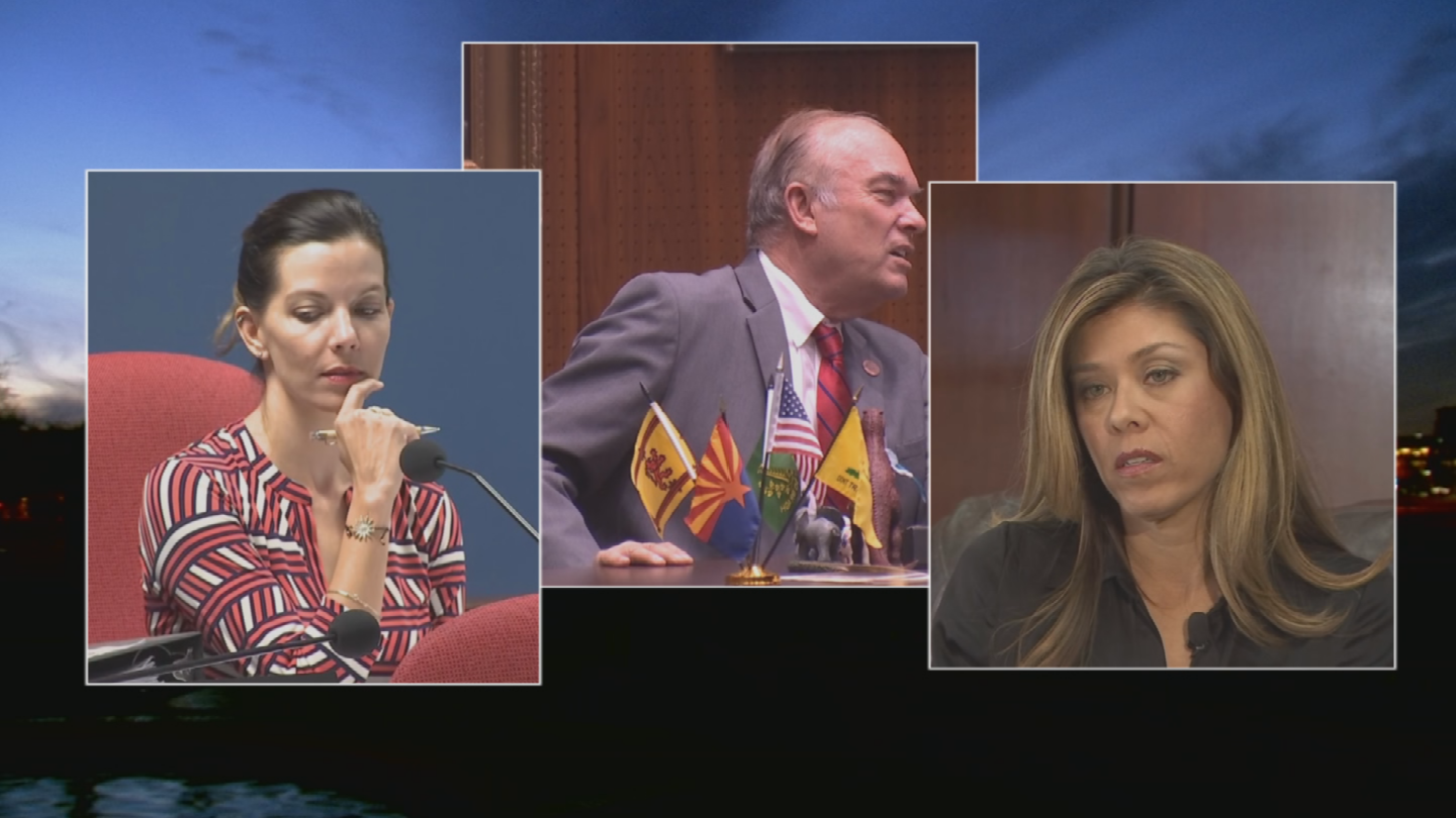 Representatives Don Shooter, Michelle Ugenti-Rita and Rebecca Rios were under investigation for a variety of inappropriate behavior. (Source: 3TV/CBS 5)