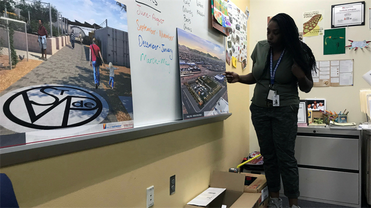 Nika Forte, the urban farm program coordinator at St. Vincent de Paul in Phoenix, said she will use the farm as a teaching tool for homeless volunteers to obtain jobs. (Source: Samantha Pouls/Cronkite News)