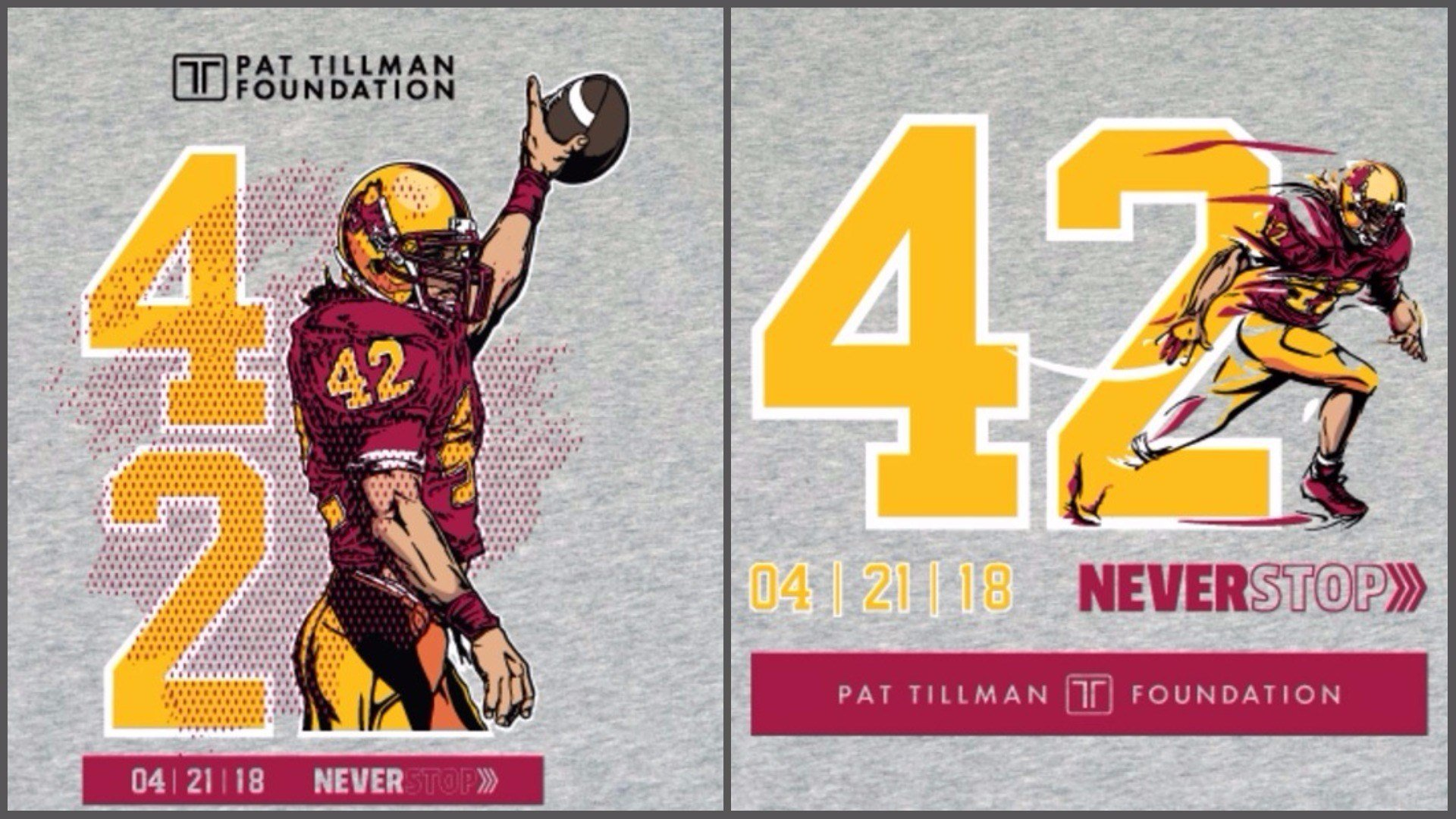 The Pat Tillman Foundation wants you to weigh in on the look of the limited-edition event T-shirt. (Source: Pat Tillman Foundation)