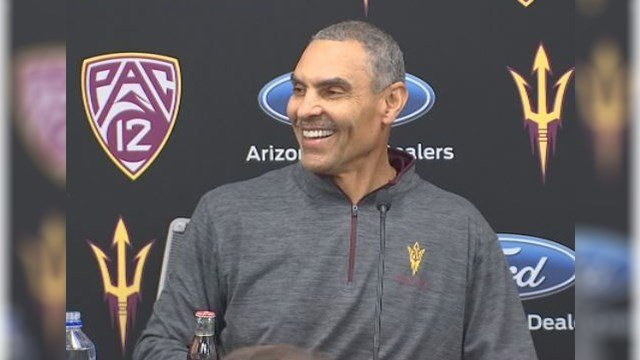 ASU Coach Herman Edwards signs his first recruiting class. (Source: 3TV/CBS 5)