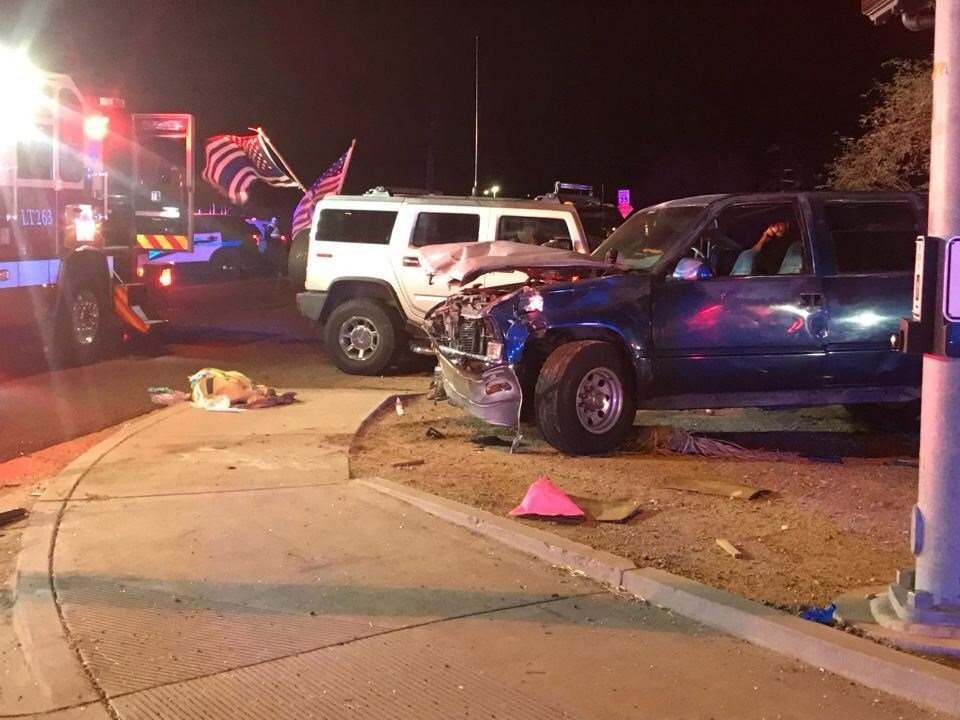 Two people had significant, potentially life-threatening injuries and were transported to trauma centers. Two people were pronounced dead at the scene and one died in the hospital. (Source: Superstition Fire and Medical District)
