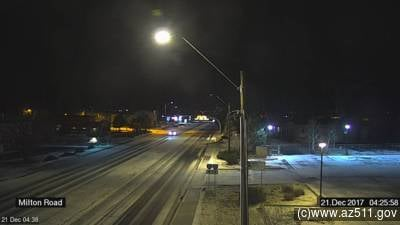 However, it did create some issues for drivers along the icy roadways. (Source: ADOT)
