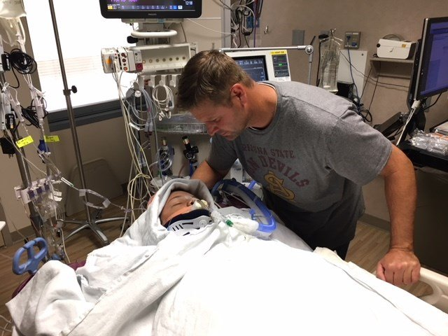 Colton spent two months at Phoenix Children's Hospital following his car accident in Wittmann. (Source: Tara McMurdie)
