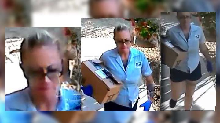 """The U.S. Postal Inspection Service took a suspected """"porch pirate"""" into custody after awoman impersonated a U.S. Postal Service worker and stole packages from the front porch of a Scottsdale home on Monday. (Source: U.S. Postal Inspection Service)"""