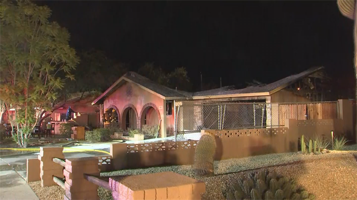 The Phoenix Fire and Medical Department responded to a fire at a Phoenix home for the second day in a row Friday morning. (Source: 3TV/CBS 5)