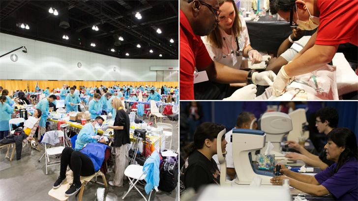 About 3,300 health care professionals and volunteers will operate a mobile hospital at the Phoenix Convention Center on Dec. 25-27. (Source: Pathway to Health)