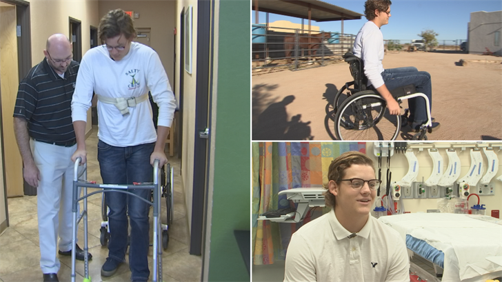 18-year-old Colton McMurdie is working hard to walk again after a severe rollover crash. (Source: 3TV/CBS 5)