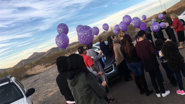 Friends and family of Christine Mustafa released balloons in her honor on Monday. (Source: 3TV/CBS 5)