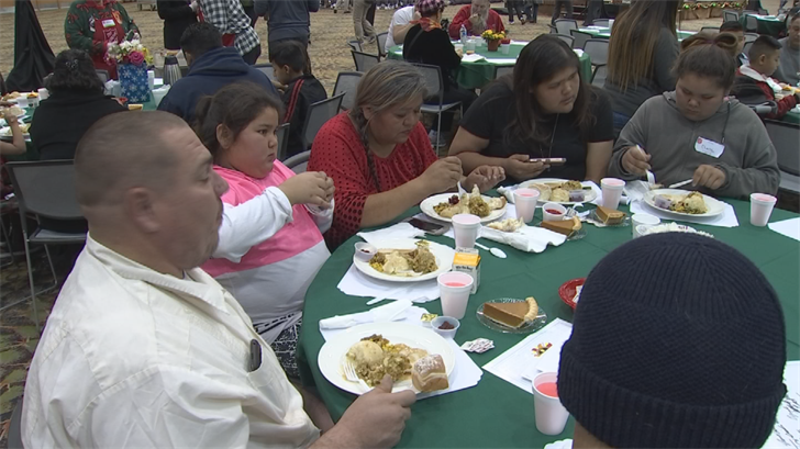 More than 5,000 showed up at the Phoenix Convention Center Monday to enjoy the Salvation Army's annual Christmas dinner. (Source: 3TV/CBS 5)