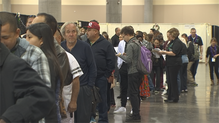 More than 3,000 health care professionals and volunteers helped Phoenix-area residents receive free health care services on the first day of a no-cost medical and dental hospital at the Phoenix Convention Center. (Source: 3TV/CBS 5)