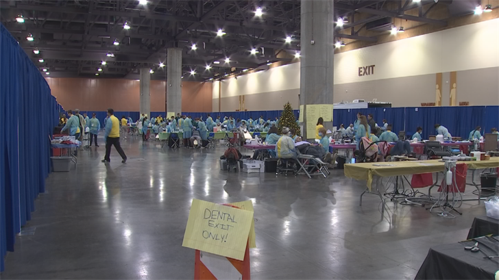 The medical event is taking place at the Phoenix Convention Center from Dec. 25 to Dec. 27 and is a first-come, first-served basis. (Source: 3TV/CBS 5)