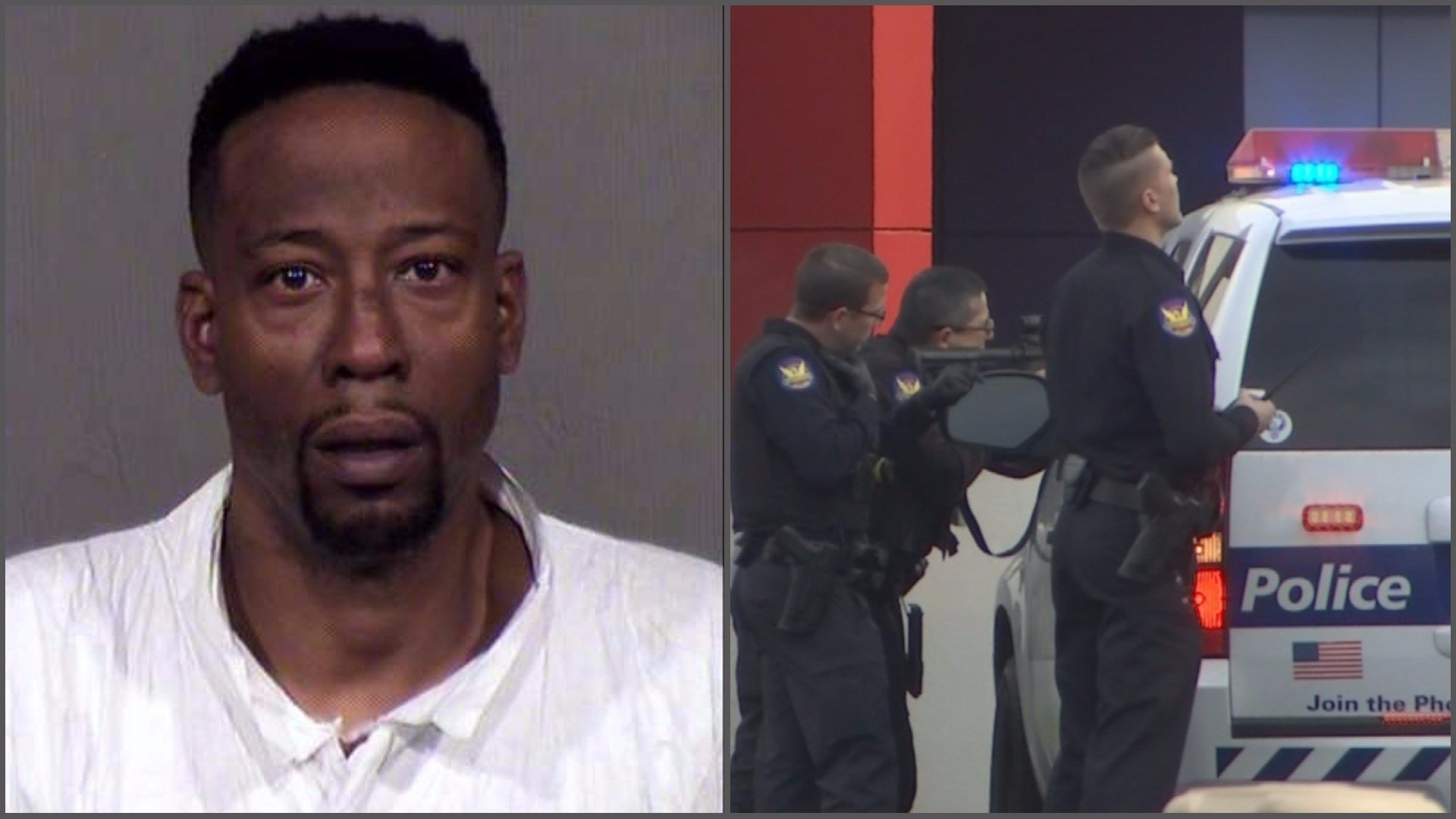 Police on Tuesday identified the suspect as Anthony Ross. (Source: Maricopa County Sheriff's Office and 3TV/CBS 5)