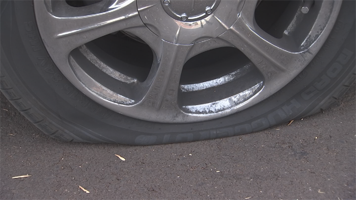 Glendale police reports show officers responded to the neighborhood just before 3 a.m.and found the slashed tires on two different streets. (Source: 3TV/CBS 5)