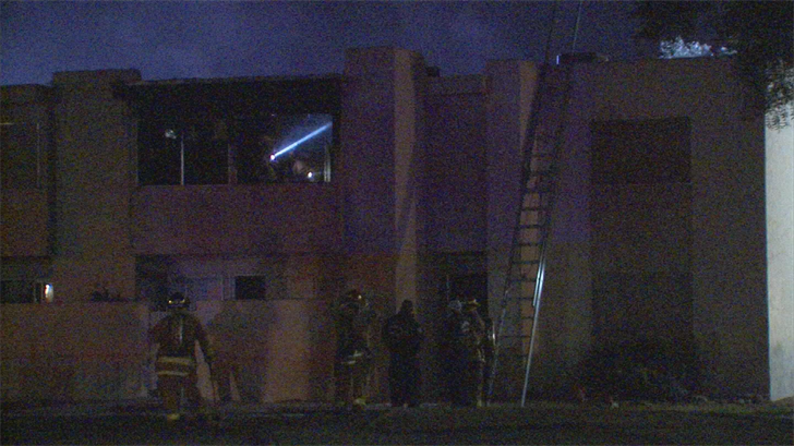 The Phoenix and Glendale fire departments extinguished an apartment fire that left two people displaced and one person with minor smoke inhalation in Phoenix. (Source: 3TV/CBS 5)