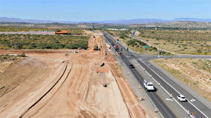 Work continues on S.R. 260 in the Verde Valley (Source: Arizona Department of Transportation)