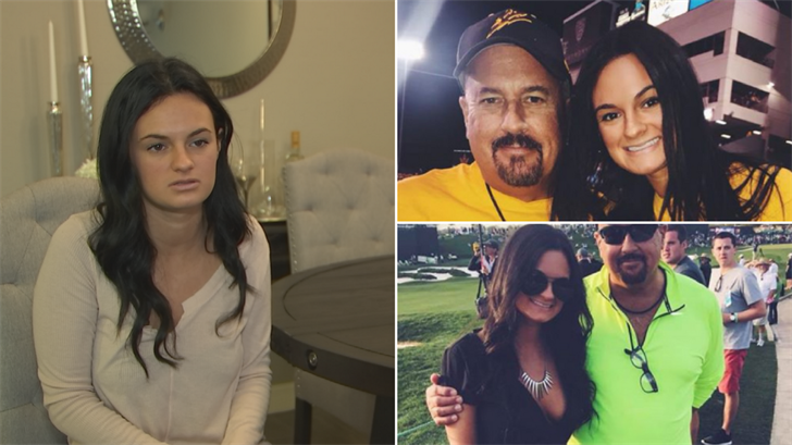 Jenna Tornese is mourning the loss of her father after he was killed in a car crash days before Christmas. (Source: 3TV/CBS 5)