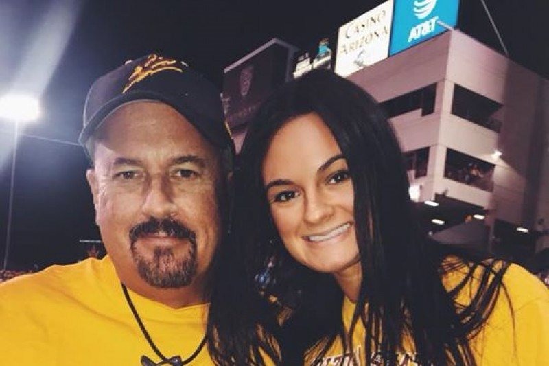 The 20-year-old ASU student was in the car with her dad, headed to an Arizona Coyotes game last Tuesday, when the crash happened. (Source: Jenna Tornese)
