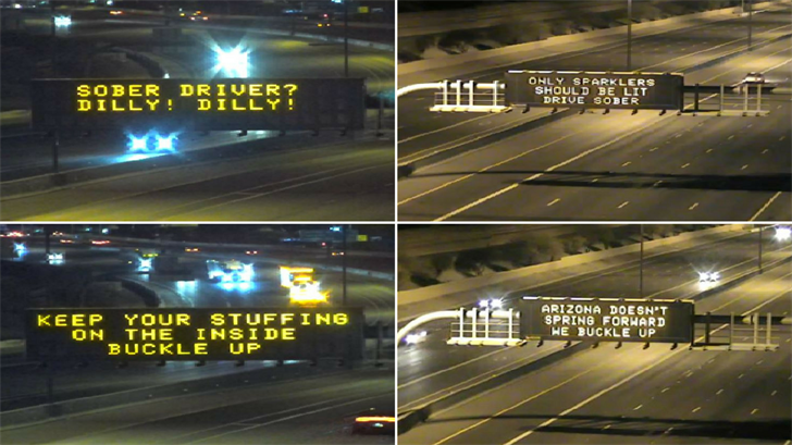 There are 10 messages ADOT wants people to vote on if they liked them or not. (Source: ADOT)