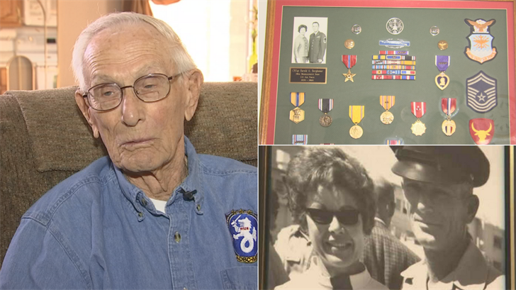 Harold Bergbower was 19 when he volunteered to join the then-named Army Air Corps. (Source: 3TV/CBS 5)