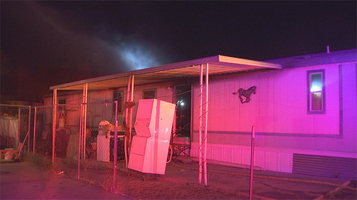 A Phoenix man is in custody after he admitted to starting the fire at a mobile home he lived in late Thursday night. (Source: 3TV/CBS 5)