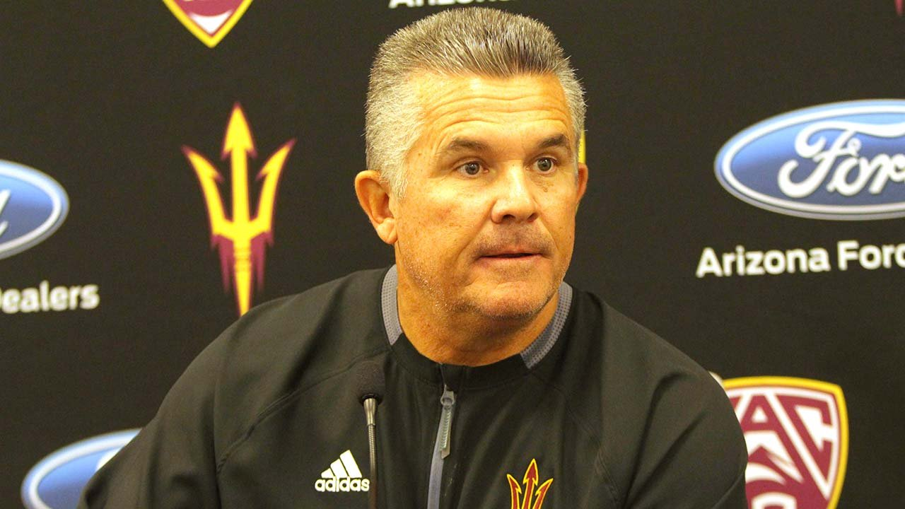 odd Graham wants his seniors to savor their final game when Arizona State faces North Carolina State in the Sun Bowl. (Source Jamie Nish/ Cronkite News)