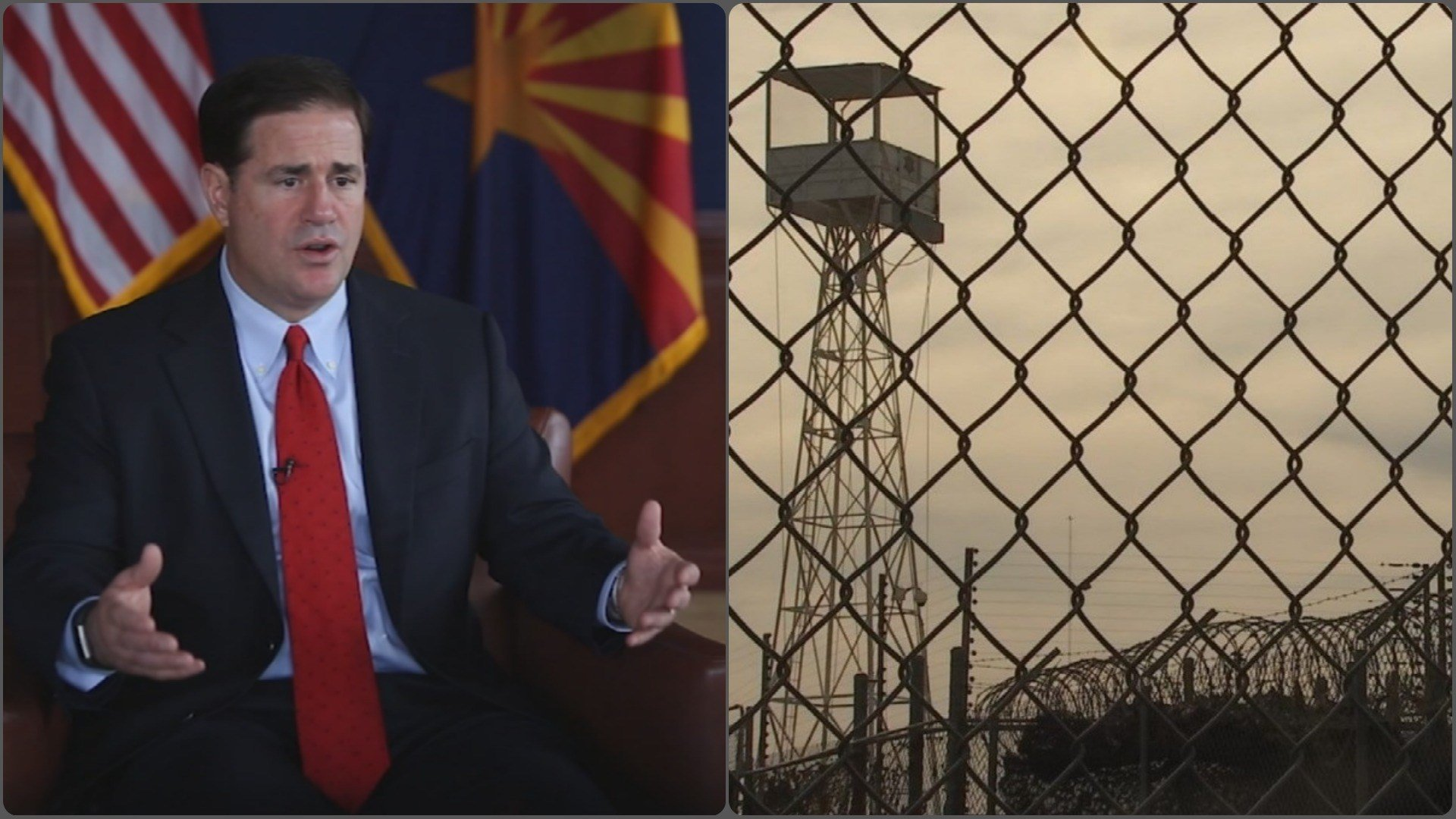 Gov. Doug Ducey proposed the site of former Tent cCity jail be turned into an inmate training facility. (Source: 3TV/CBS 5)