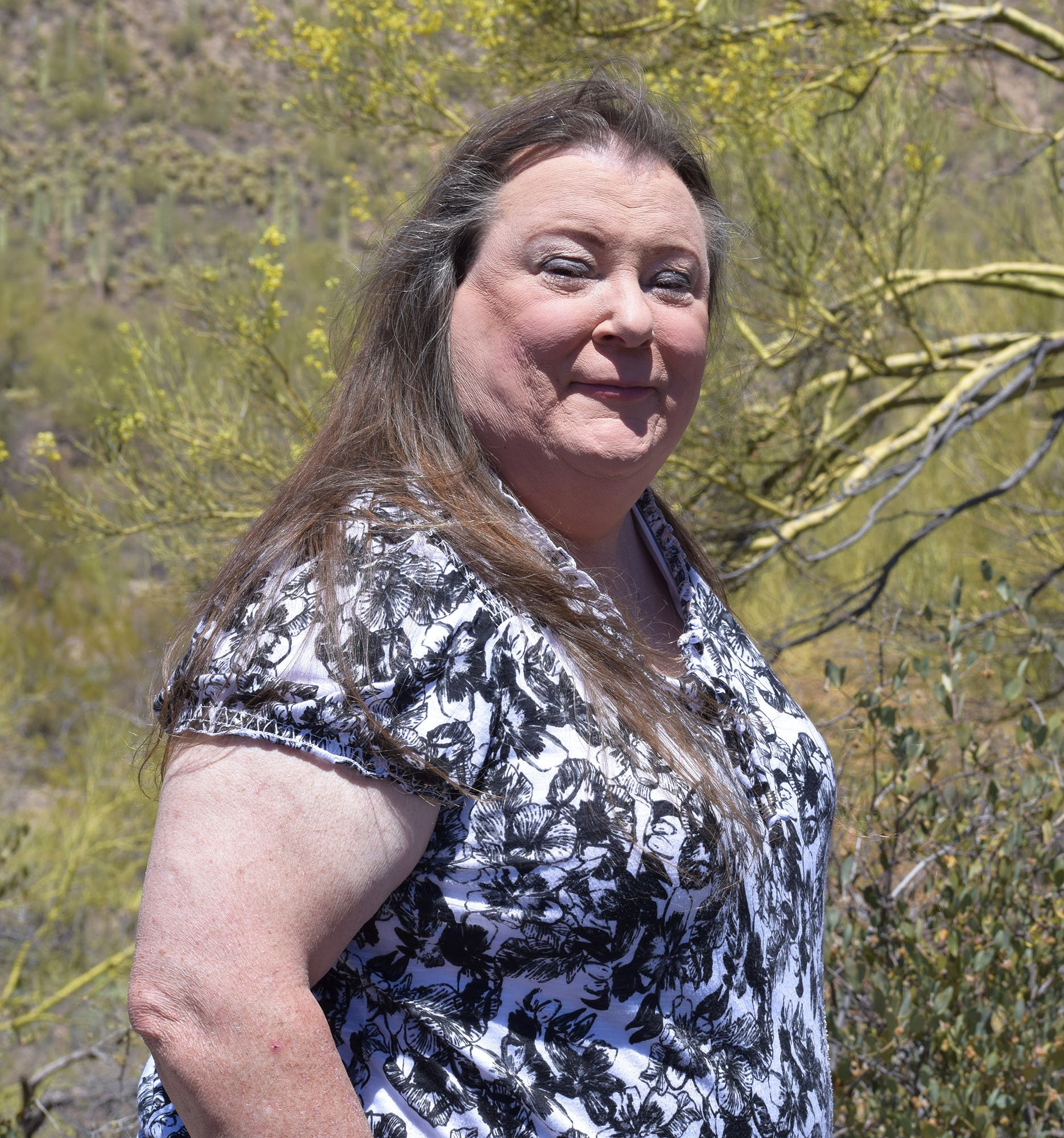 Stephanie Donoghue, who volunteers to help transgender veterans at a cliniic at the Tucson VA, said her clients felt like they got 'kicked in the gut' when President Trump said he would ban transgender soldiers. (Source: Stephanie Donoghue)