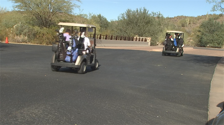 At Quintero Golf Club in Peoria, there are some high-tech golf carts. (Source: 3TV/CBS 5)