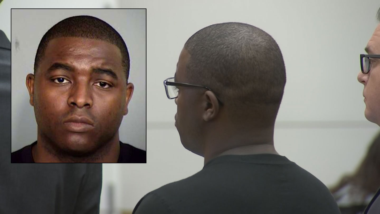 Former Phoenix police detective Germayne Cunningham was in court Tuesday to find out whether he would have to go to jail to await trial in the death of his 7-year-old daughter. (Source: 3TV/CBS 5 and Maricopa County Sheriff's Office)