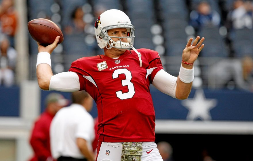 Arizona quarterback and former USC star Carson Palmer had 11 touchdowns versus just two interceptions in helping lead the Cardinals to a 7-1 record in 2014. (Source: Sue Ogrocki/The Associated Press)