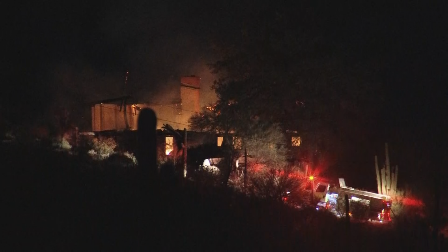 Firefighters were called out to a home near Cave Creek and Spur Cross roads around 11 p.m. Tuesday. (Source: 3TV/CBS 5)