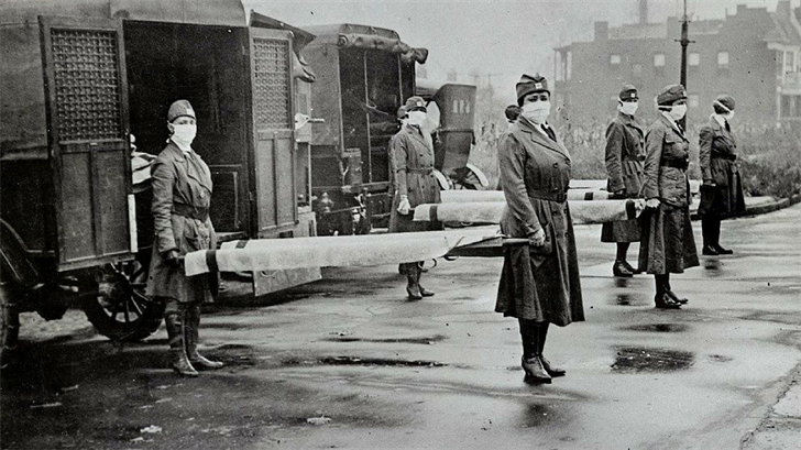 The 1918 flu pandemic killed more than 600,000 Americans in less than two years. (Source: Library of Congress)