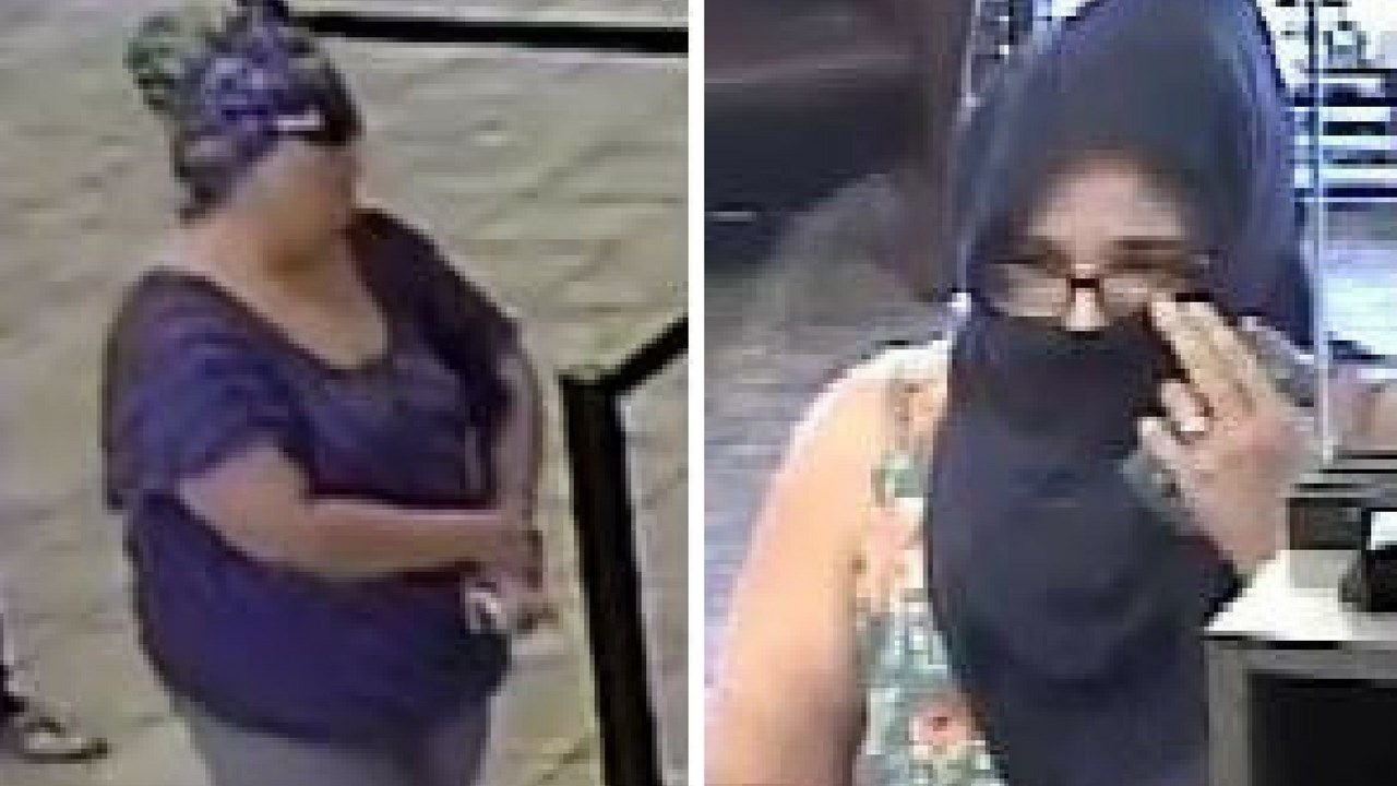 "The woman nicknamed the ""Grimace Bandit"" was caught in Mississippi, the FBI said. (Source: Goodyear Police Department)"