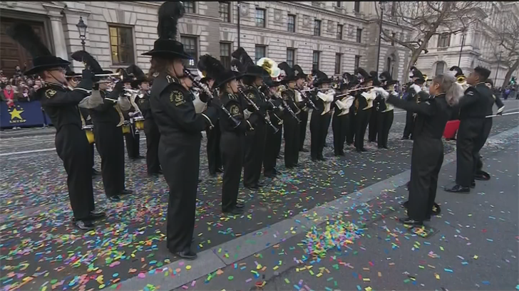 A high school from Buckeye played in the London Parade. (Source: CNN)