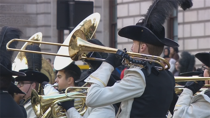 The band arrived just a few days prior to the parade and managed to check out some of the amazing sites of London. (Source: CNN)