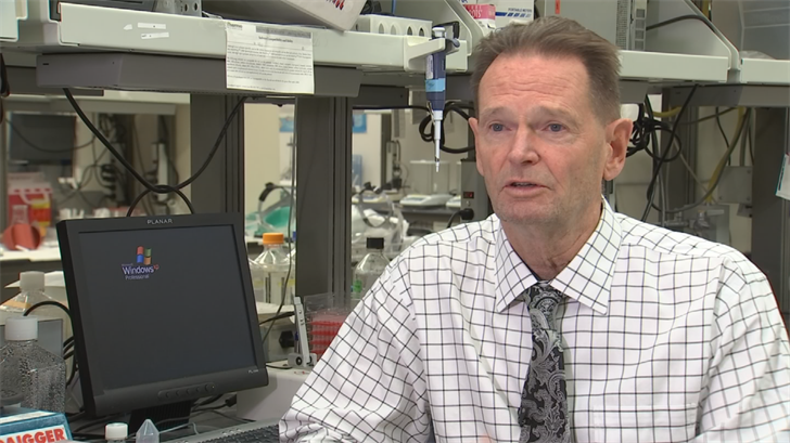 ASU ProfessorDr. Stephan Johnston believes one shot could cure both man and canine. (Source: 3TV/CBS 5)
