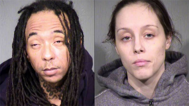Two people were arrested specifically for firing a gun into the air: Samantha Lewis-Nearhood, 27, and Carter Moore, 34.  (Source: Maricopa County Sheriff's Office)