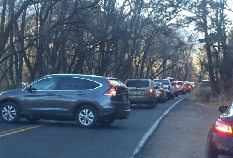Cars turning around on Highway 89A north of Sedona (Source: 3TV/CBS 5)