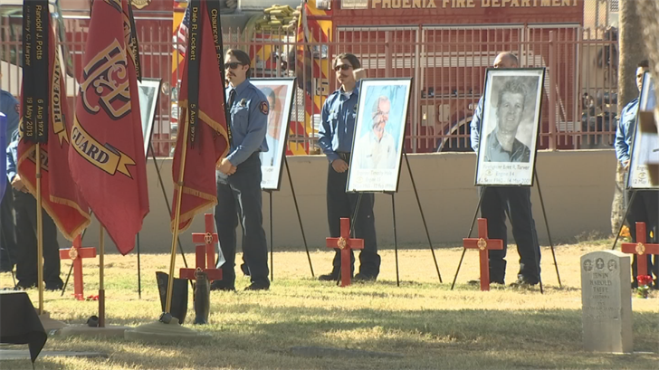 Fallen firefighters were remembered on Sunday in Phoenix. (Source: 3TV/CBS 5)