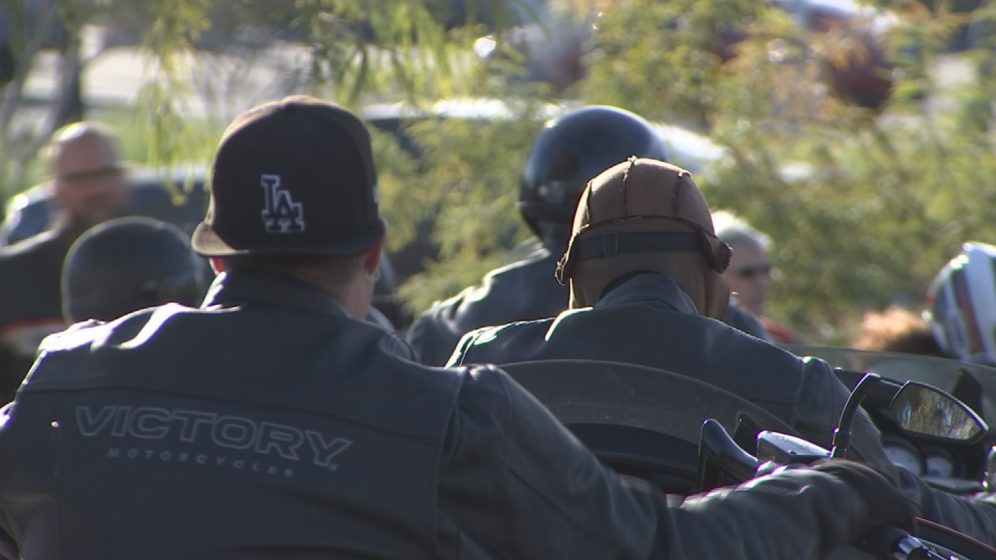 The group then rode their motorcycles up to The Hideaway Grill in Cave Creek. (Source: 3TV/CBS 5)
