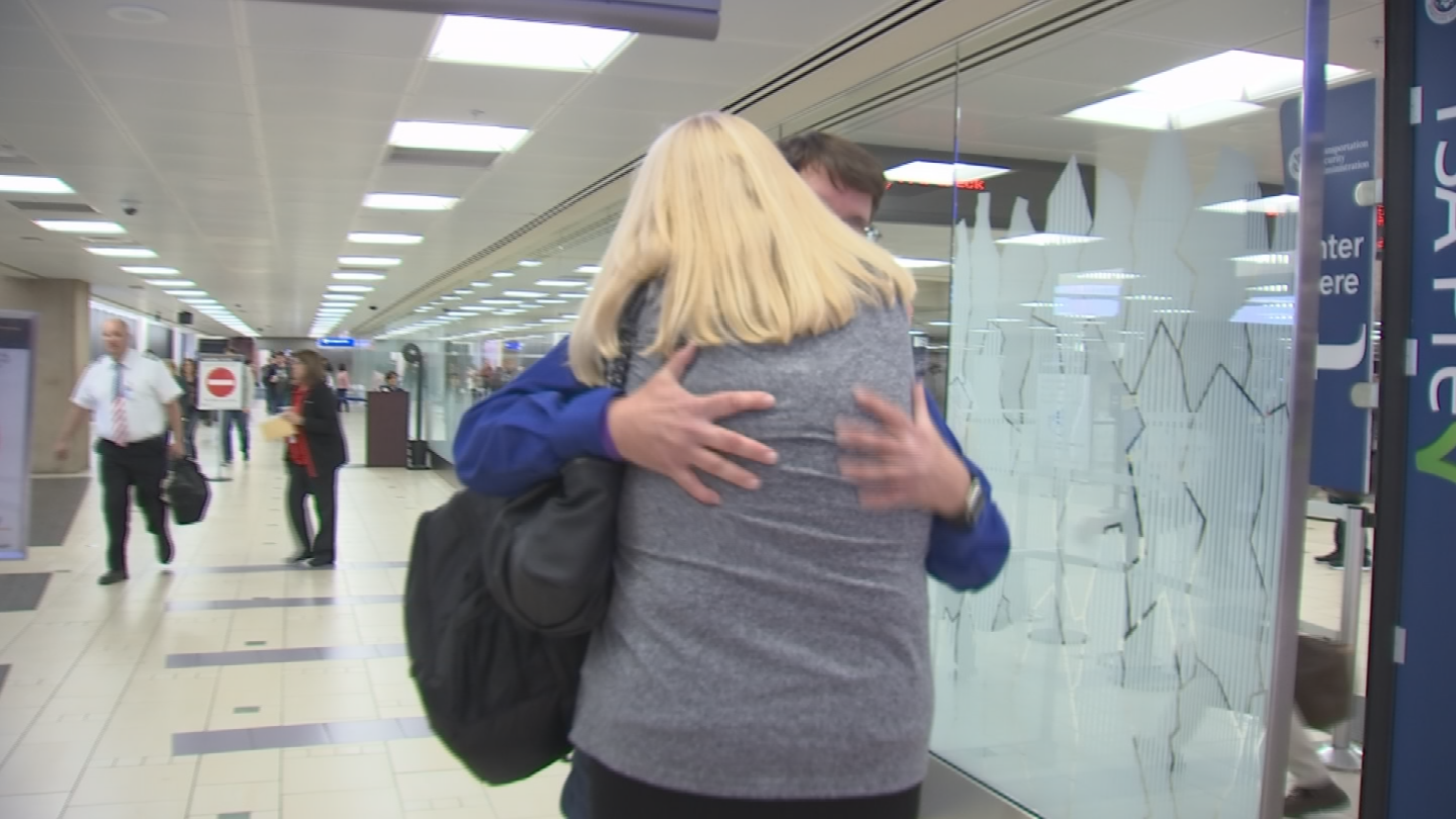 Rick was greeted by his wife Susan and kids. (Source: 3TV/CBS 5)